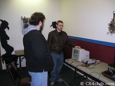 Ryan showcasing his Nintendo Toaster Stereo modded console - Commodore Computer Club