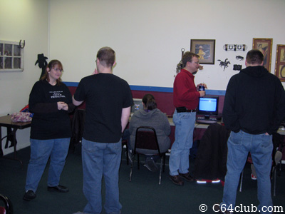 Commodore Friends socializing at the meeting - Commodore Computer Club