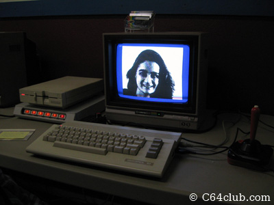 Digitized Retro Sexy Girl - Commodore Computer Club