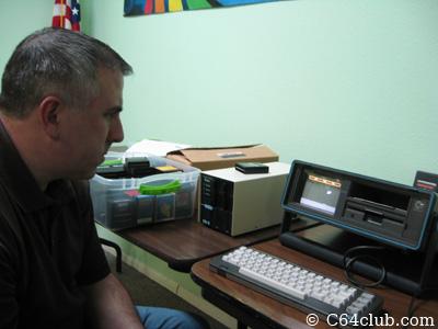 Chuck Van Pelt playing Choplifter - Commodore Computer Club
