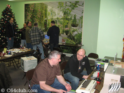 Computer Computer Club members talking and playing games