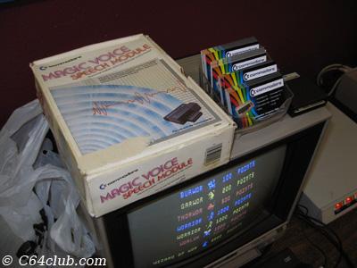 C64 Magic Voice Speech Module Complete In Box - Commodore Computer Club