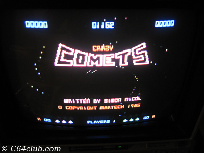 C64 Crazy Comets Game - Commodore Computer Club