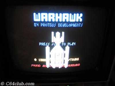 C64 Warhawk Game - Commodore Computer Club