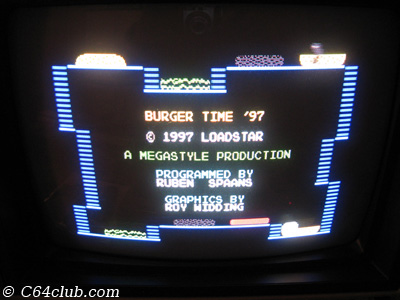 C64 Burger Time '97 Game - Commodore Computer Club