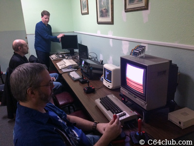 Aaron, Doug, Tommy - Commodore Computer Club