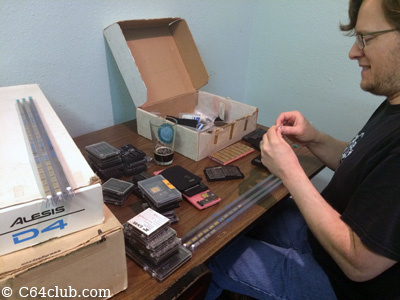 Jared with IC's, Chips, Resistors - Commodore Computer Club