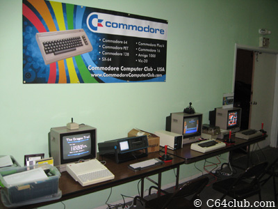 Setup with Banner - Commodore Computer Club