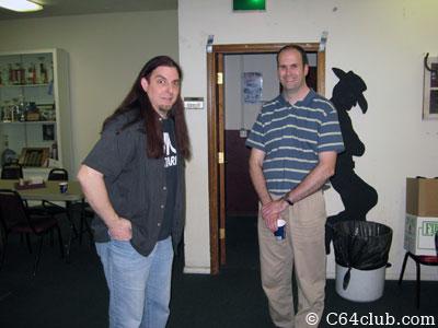 Atari Scott and Dan socializing - Commodore Computer Club