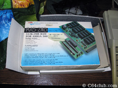 Amiga 500 2 MB RAM Upgrade - Commodore Computer Club