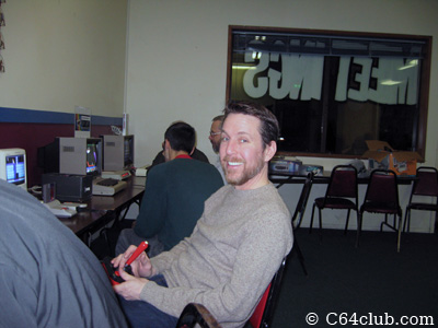 Gregory all smiles during game time - Commodore Computer Club