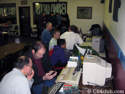 C64 Club members having fun - Commodore Computer Club