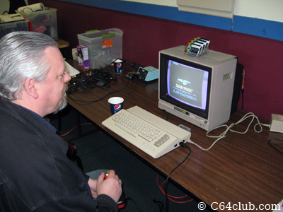 Paul Merwin playing Star Trek - Commodore Computer Club