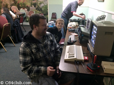 C64C playing games on cartridge - Commodore Computer Club