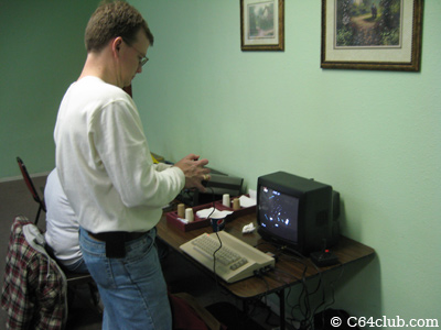 Gregory playing Gyruss on his C64C - Commodore Computer Club