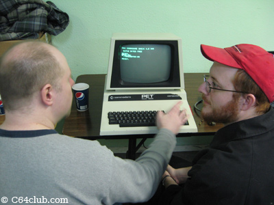 Steve Agent Friday and Gordon on the PET 4032 - Commodore Computer Club