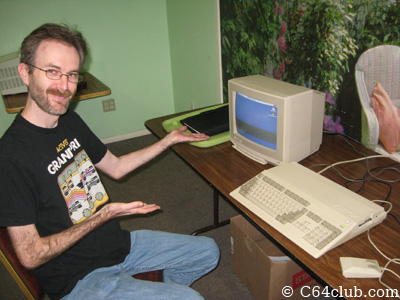 Kevin Savetz with Amiga 500 - Commodore Computer Club