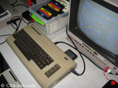 C64 Silver Label playing Pac-Man - Commodore Computer Club