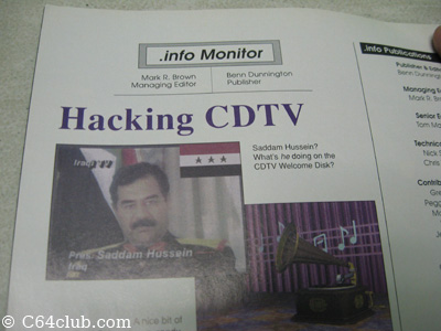 Saddam Hussein CDTV - Commodore Computer Club