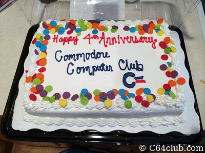 C64 Commodore Computer Club 4 Year Birthday Cake