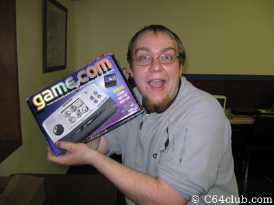 Jimmy and his Game com handheld system - Commodore Computer Club