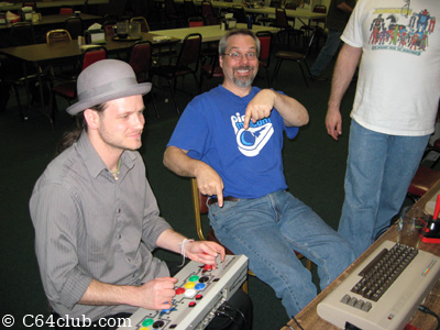 Jesse and Tommy Robotron 2084 Controller Action - Commodore Computer Club