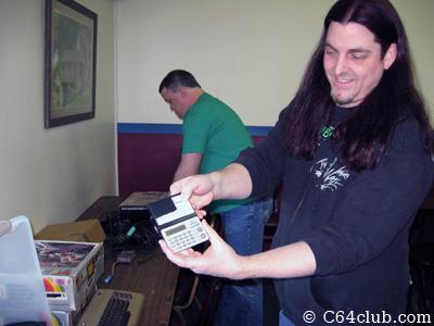 Scott with Atari Calculator - Commodore Computer Club
