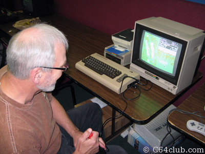 Bill with his C64 - Commodore Computer Club