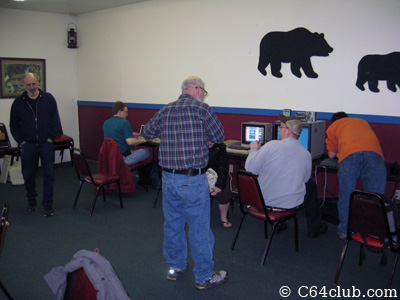 Socializing at the meeting - Commodore Computer Club