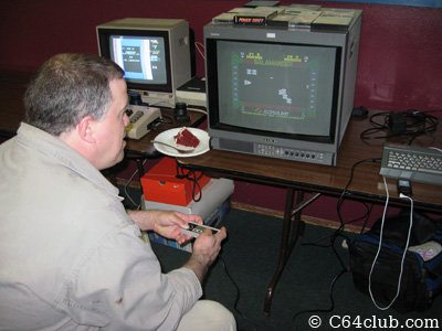 Morgan with Sinclair ZX Spectrum +2 - Commodore Computer Club