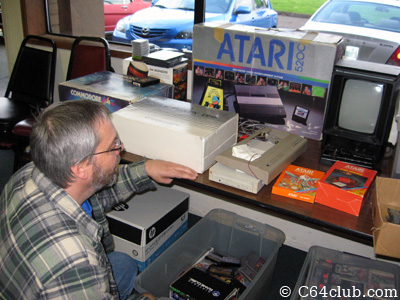 Tom checking out the Commodore Marketplace - Commodore Computer Club