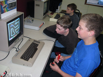 Ian and friends playing games - Commodore Computer Club