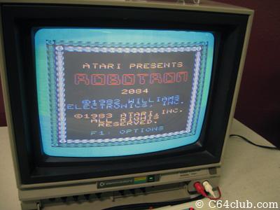 VIC-20 Robotron 2084 Game Title Screen - Commodore Computer Club
