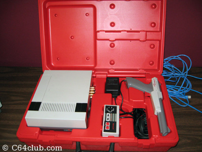 Nintendo NES red rental case - Commodore Computer Club