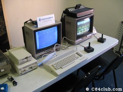 Commodore 64c, 1541c and 1581 disk drive, Atari 2600 - Commodore Computer Club