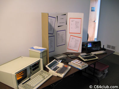 TRS-80 Model 100, Commodore SX-64, IBM PC 5155 portable, TI CC-40, Sharp PC-1248, PC-1250, and PC-1500 - Living Computer Museum - Commodore Computer Club