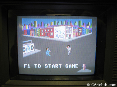 Breakdance screen shot - Commodore Computer Club