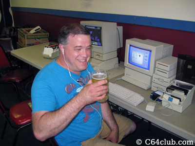 Captain Morgan with a beer - Commodore Computer Club