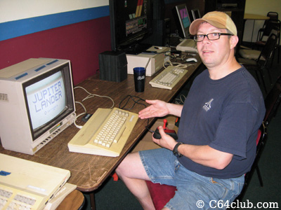 Paul playing Jupiter Lander on C64c - Commodore Computer Club