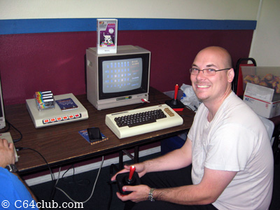 Eric playing Crossfire VIC 20 - Commodore Computer Club