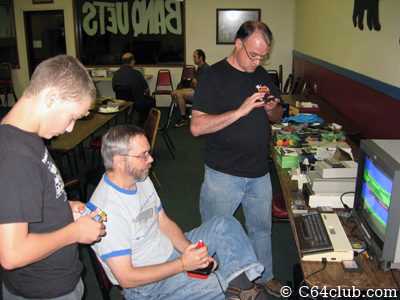 Ian, Tommy, Conrad, Atari 800 XL - Commodore Computer Club