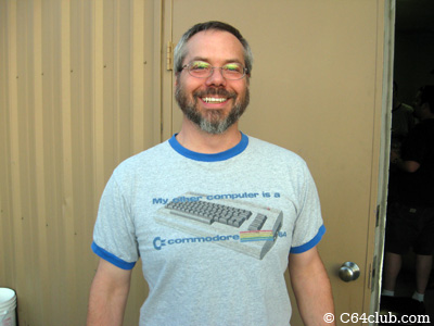 Tom with his C64 T-shirt - Commodore Computer Club