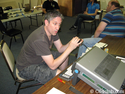 Member with Commodore SX-64 - Commodore Computer Club