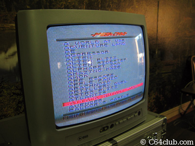 VIC-20 Mega-Cart Menu Screen - Commodore Computer Club