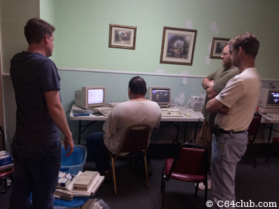Amiga A500, Aaron, Sal, Shawn and Scott - Commodore Computer Club