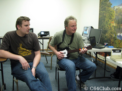 Kevin Savetz and Earl Evans playing Shredz64 - Commodore Computer Club
