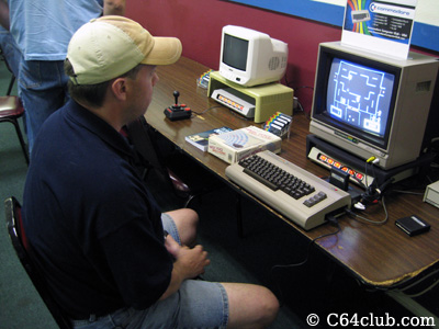 Paul playing Wizard of Wor - Commodore Computer Club