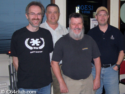 Kevin Savetz, Morgan, Rick Weis, Paul and Sal - Commodore Computer Club