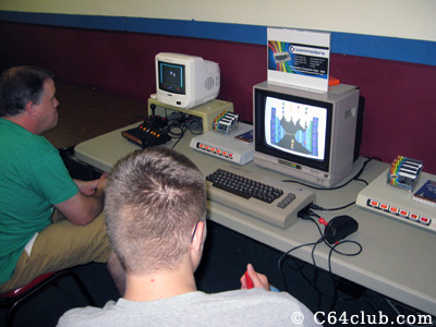 Kickman game being played during gametime - Commodore Computer Club