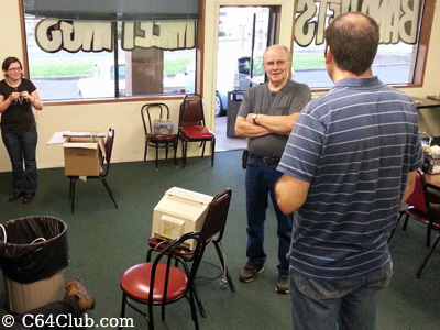 Mike D. and Dan socializing at the C64 Club meeting - Commodore Computer Club